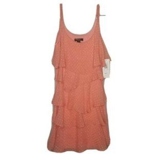 Signature By Robbie Bee Coral Layered Dress 12